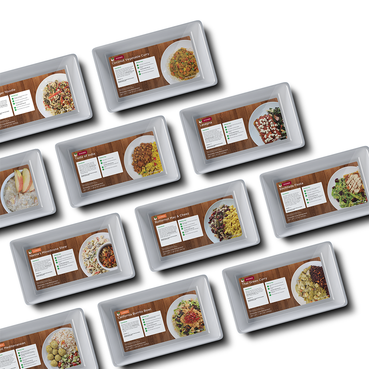 MediMeals Food Package Tray Collage