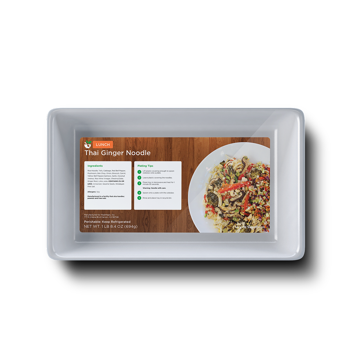 MediMeals Food Packaging Tray